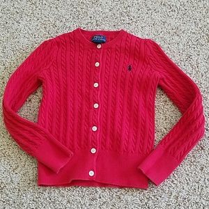 Ralph Lauren Red Cardigan Size 6 Girls